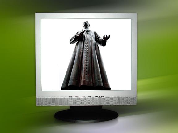 PriestOnMonitor_052709